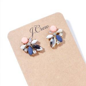 Jcrew color crystal statement earrings